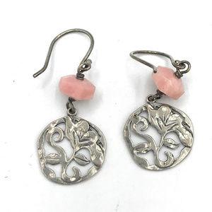 W2212 Retired Silpada Pink Soapstone Earrings